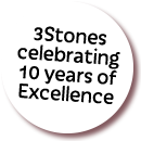 3Stones celebrating 10 years of excellence